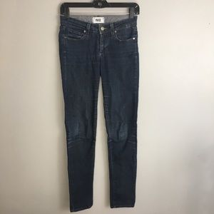 PAIGE Skyline Skinny Blue Faded Fitted Jeans 24